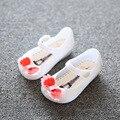 13-15.5 cm verano mini melissa arco zapatos de la jalea de la princesa niños sandalias de los niños sandalias de playa zapatos de la muchacha del bowknot lindo sapato menina