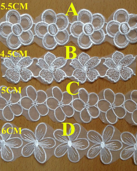 4.5cm-6cm organza base polyester embroidery lace trimming,XERY0712B
