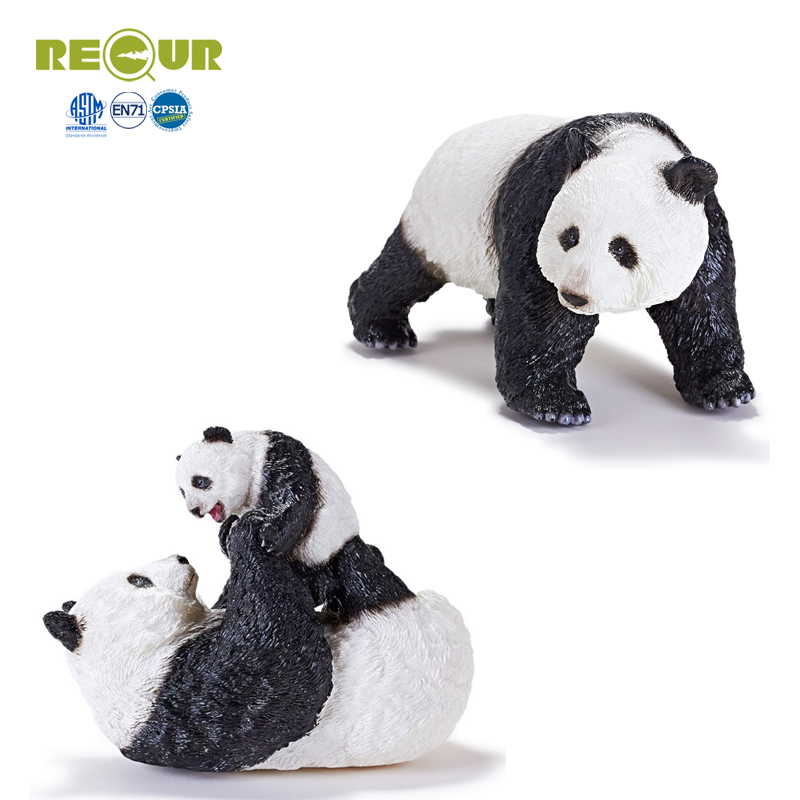 Recur Panda figure toys Simulation animal Model Hand Painted Soft PVC Action Figures Wild Animal Toy Collection Gift For kids wiben animal hand puppet action