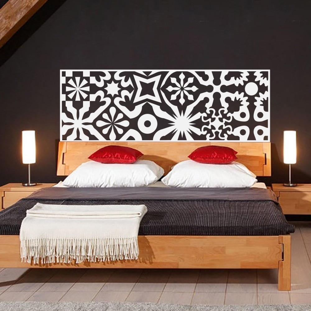 Chinoiserie Bett Kopfteil Gesteppte Wandtattoo Vinyl Kunst Wandaufkleber  Bett Dekoration Beautifl Cup Charme Anhänger