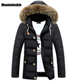 Mountainskin 2017 Men's Winter Fur Collar Long Parkas Men Hooded Thick Overcoats Male Casual Warm Jackets Brand Clothing SA029