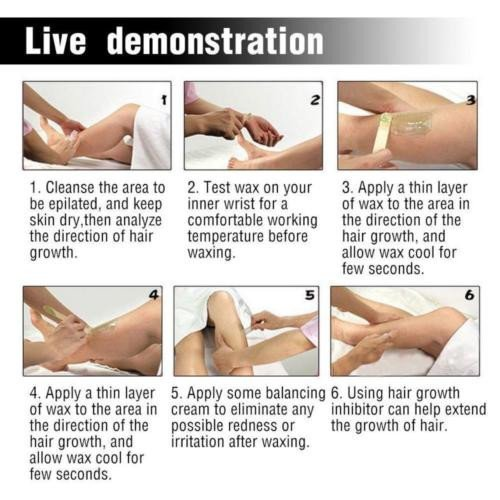 use stripless wax