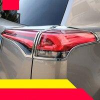 lsrtw2017 abs car rear headlight trims for toyota rav4 2012 2013 2014 2015 2016 2017 2018 xa40