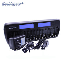16 slots Doublepow DP-K106 2-LCD Built-In IC Protection Intelligent Rapid Battery Charger for 16 pcs 1.2V AA/AAA Ni-MH/Ni-CD