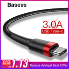 Baseus USB Type C Cable for One Plus 6 5t Quick Charge QC3.0 USB C Fast Charging USB Charger Cable for Samsung Galaxy S9 S8 Plus