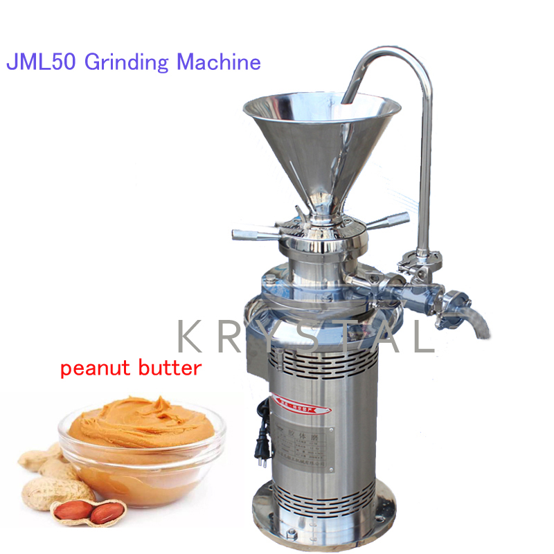 JML50 Grinding Machine Sesame/Peanut Milling Machine Stainless Steel Grinder Colloid Grinder Peanut Butter Maker hot sale 80 colloid mill peanut butter making machine bitumen sesame paste grinder machine