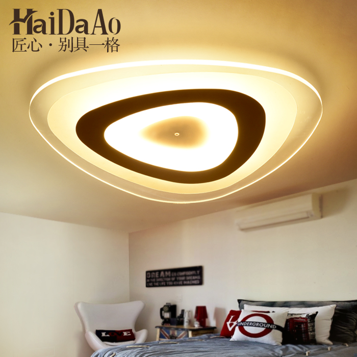 Led ultra thin ceiling light modern minimalist round bedroom lamp personality living room study room dining room lamp modern artistic minimalism led rhombus ceiling light round indoor down lamp creative personality study dining room