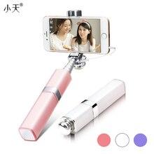 Moda lápiz labial nude diseño bluetooth inalámbrico selfie stick para iphone 6 s 7 plus ios y para samsung android smartphones