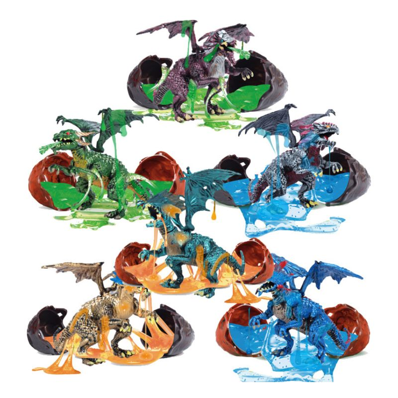 1Pc Breakout Beasts Surprise Dinosaur Slim Eggs Self Assembled Toys for Kids Children Early Educational Toy Gifts