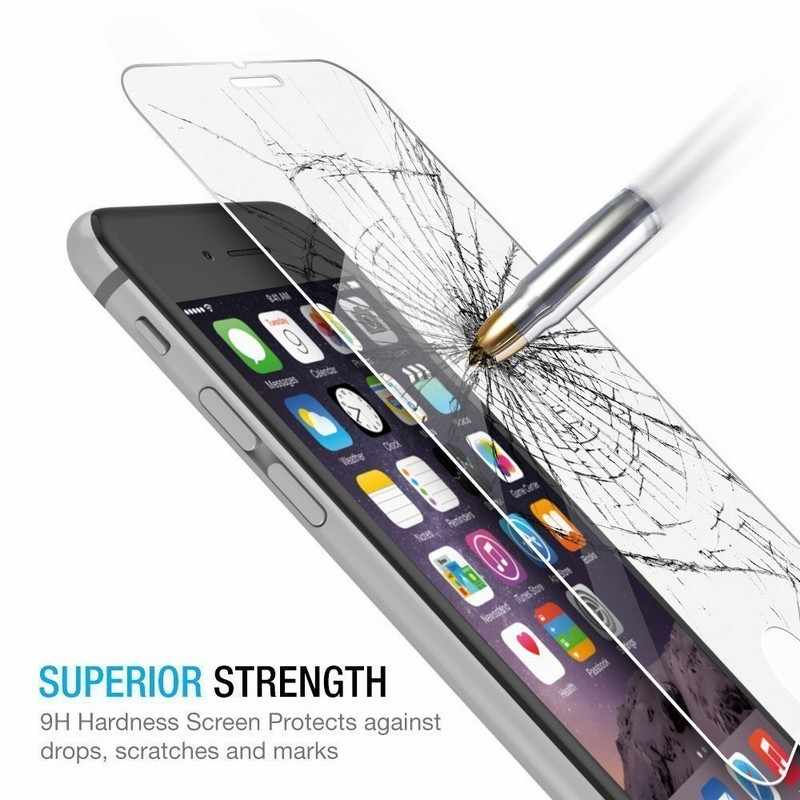 واقي للشاشة من الزجاج المقسى لهاتف آيفون 11 برو X XS Max XR 8 7 Plus 6S 6 5 5s SE واقي شاشة فيري تريمبي