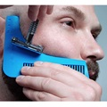 Free shipping Gentleman Beard Trim Template hair cut hair molding trim template beard brush comb beard modelling tools 21009