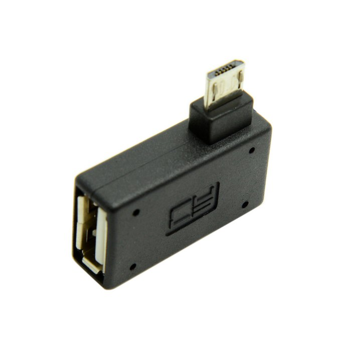 90 Degree Ultra Flat Right Angled Micro USB 2.0 OTG Host Adapter Connector Adaptor