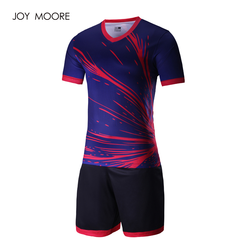 full sublimated soccer jerseys Thai Quality 2017 2018 newest Men s blue  pink sport football uniforms custom-in Soccer Sets from Sports    Entertainment on ... 0ee26e7e8