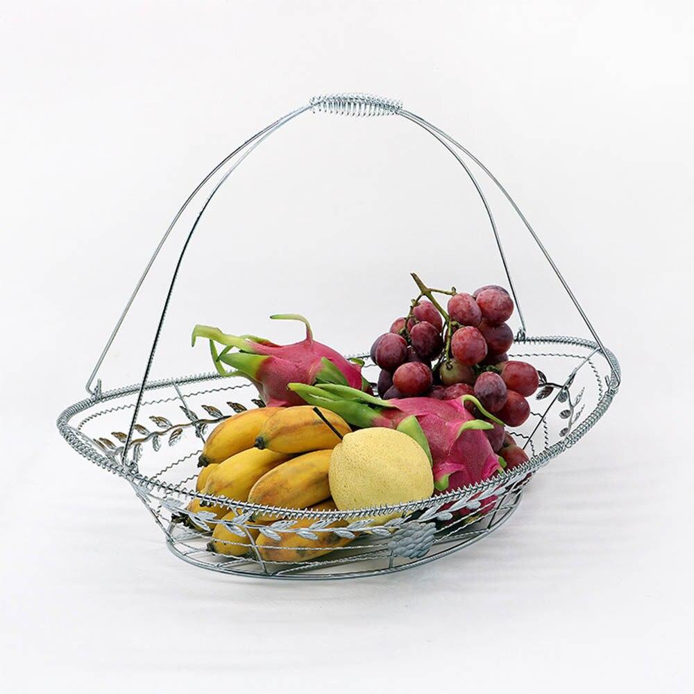 Storage Basket lron Fruit Plate Storage Fruit pots Living room Metal ...