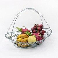 Vogue Iron Fruit Basket Kitchen Storage Racks Home Drain Rack Desktop Storage Hanging Basket Home Decoration