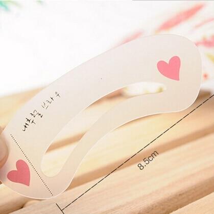 Hot 3Pcs/Set Eyebrow Trimmer Reusable Stencils Eyebrow Drawing Guide Card Brow Template DIY Make Up Tools 2