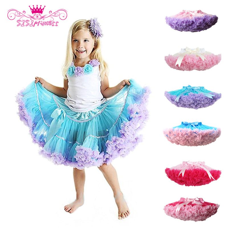 Factory outlets Fashion Fluffy Chiffon Pettiskirts tutu Baby Girls Skirts Princess skirt dance wear Party clothes Free Shipping in Skirts from Mother Kids