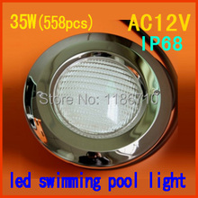 Factory direct sale 35W embedded led swimming pool light 35W*(558pcs) IP68 underwater led pool light Stainless Steel Face Cover
