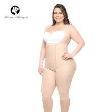 ผู้หญิงเอวเทรนเนอร์Body Shaper Feminino BodysuitsสายรัดFirm Shapewear Bodysuit 6XL Plusขนาด