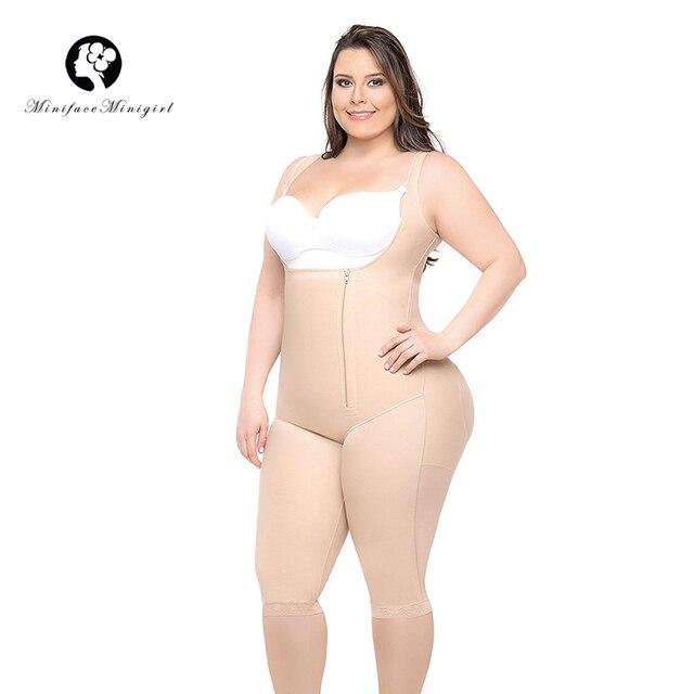 Kadın bel eğitmen zayıflama vücut şekillendirici Feminino Bodysuits modelleme kayışı firma Shapewear Bodysuit 6XL artı boyutu