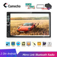 Camecho 2Din Car Radio 2din Multimedia Player 7 HD Autoradio USB AUX Bluetooth FM Auto Stereo Support Android Mirror Link Audio