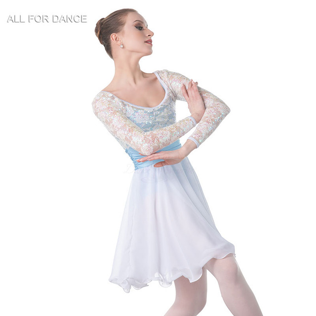 1e3705c71 New white sequin top Bodice chiffion skirt Lyrical Dance Costume ...