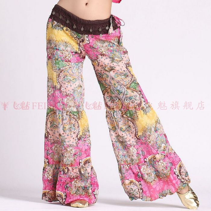 New Belly Dance Costumes Senior Sexy Printing Belly Dance  Pants For Women Belly Dance Lantern Trousers