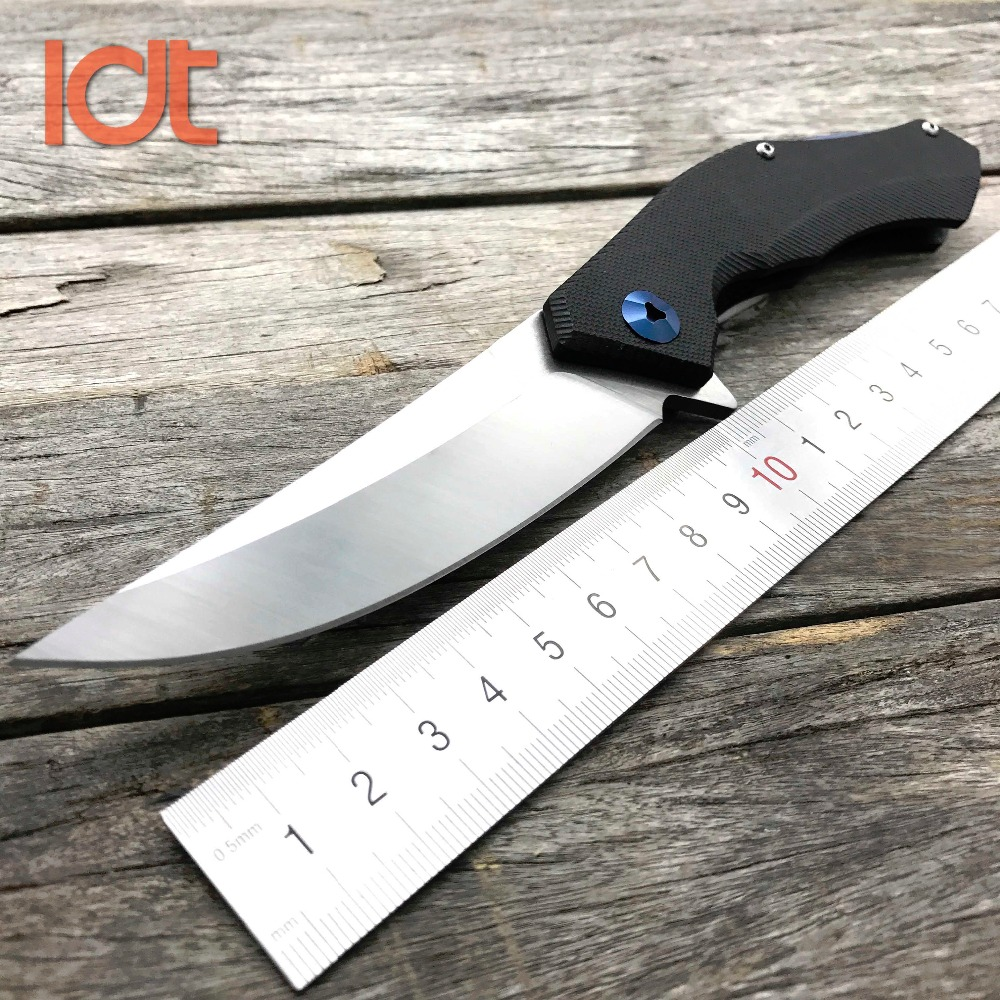 LDT Blue Moon Folding <font><b>Knife</b></font> D2 Blade G10 Handle Bearing Tactical <font><b>Knives</b></font> Outdoor Hunting Survival <font><b>Wild</b></font> <font><b>Boar</b></font> Pocket <font><b>Knife</b></font> EDC Tool image