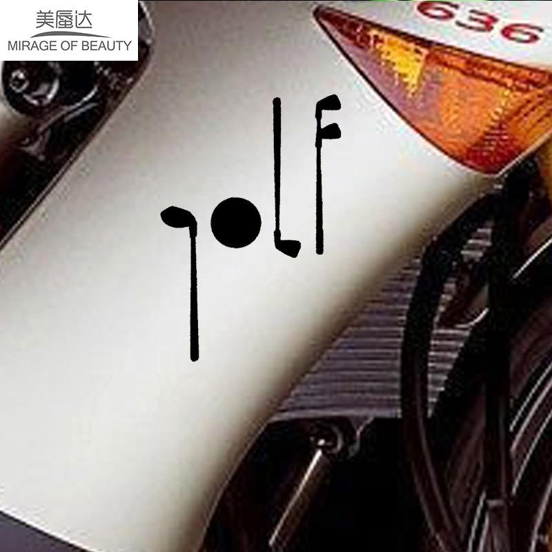 Golf Club Art Sticker Driver Ball Golf for Car Window Truck Bumper Auto SUV Door Kayak Sports Car-detector Vinyl Decal