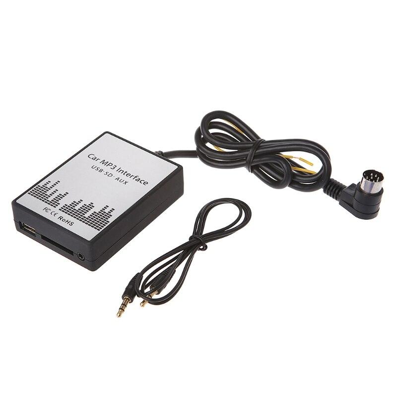 OOTDTY USB SD AUX автомобиль MP3 музыкальный плеер адаптер для Volvo hu-серии C70 S40/60/80 v70 XC70 Интерфейс простой Установка