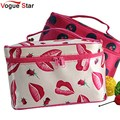 !New Portable Type Bag Zipper Cosmetic Storage Make up Bag Jewelry bag Handle Train Case Purse Toiletry Pouch YA40-100