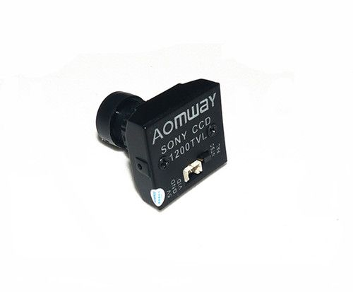 AOMWAY 1200TVL 960P HD Sony CCD Mini Camera 2.8mm Lens for FPV aomway universal cmos ccd m12 camera fixed mount for fpv