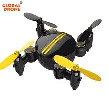 Global Zangão FPV Micro Zangão com Câmera de Controle Remoto Wifi Mini Altitude Hold Drone RC Helicóptero Brinquedos para Crianças VS H36 S9