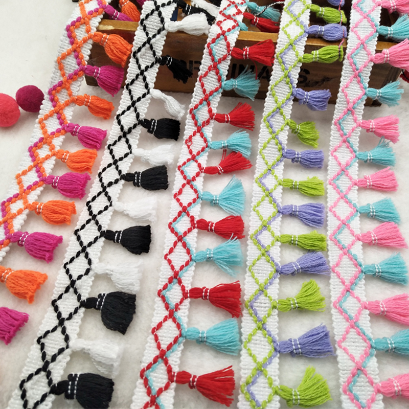Tassel Fringes Trim Lace Fabric Sewing Accessories tassels Trim curtain tassel Fringes Ribbon Sewing Lace For DIY Craft Apparel