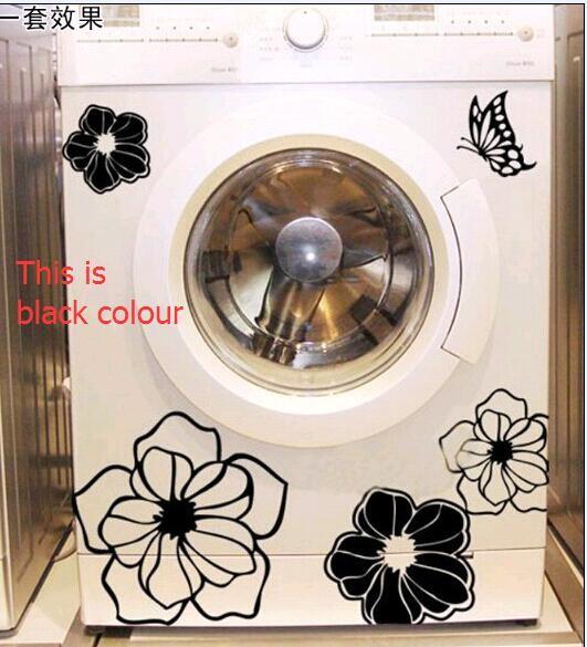 HTB1U1gEJVXXXXbeXVXXq6xXFXXXt - High Quality Household Washing Machine Refrigerator Stickers Flowers Butterflies Wall Stickers Home Decor For Kitchen Bathroom
