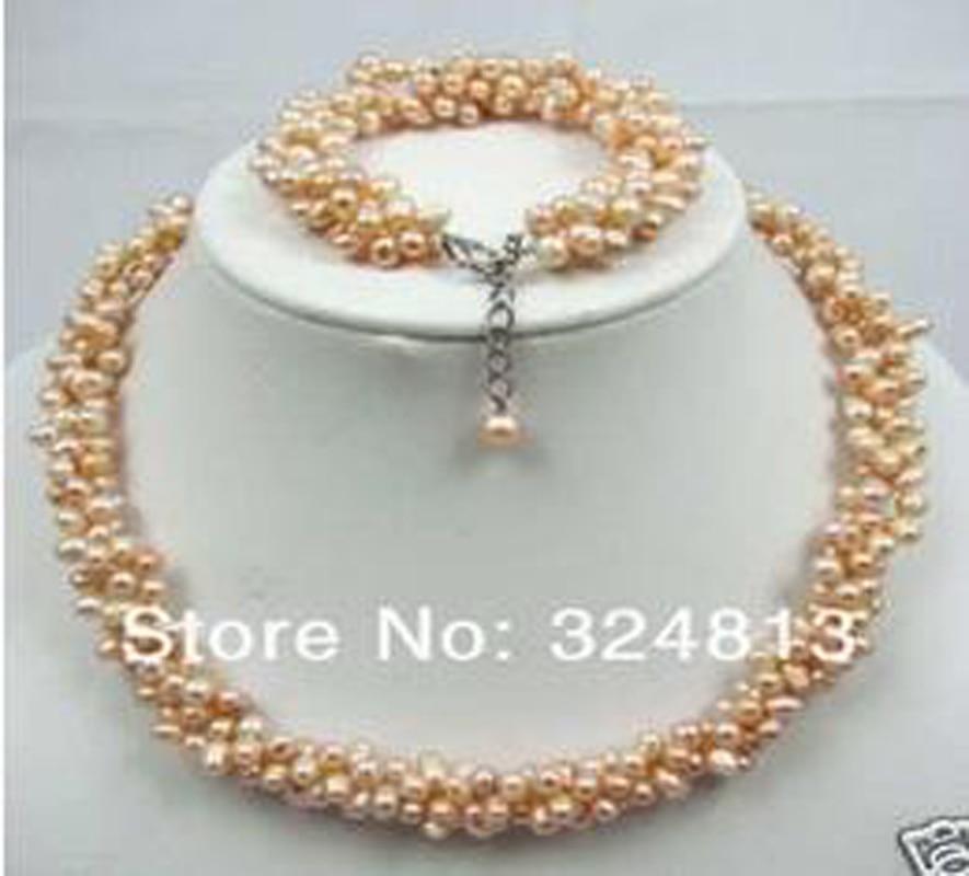 Nouveau charmant! ensemble de BRACELET en perles roses