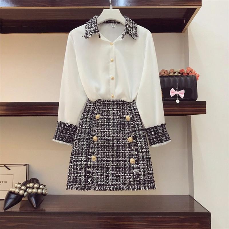 2018-Autumn-Women-Long-Sleeves-Turn-down-Collar-Shirts-Tweed-Button-Design-Slim-Skirt-2-pcs.jpg_640x640__