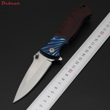 Dcbear DA83 Camping Survival Folding Knife With 440C Blade 58HRC Tactical Hunting Pocket Knives Outdoor Tool