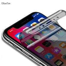 EXUNTON 3D Full Cover Soft Hydrogel Membrane Privacy Screen Protector Film for iPhone X XS MAX XR Anti Spy Protective