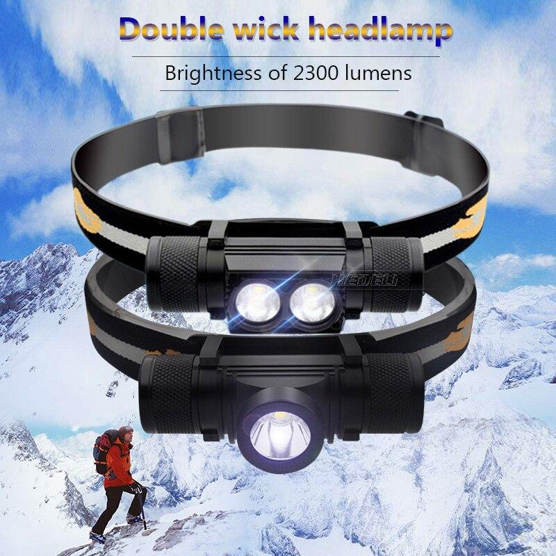 Faróis de Led lamp lanterna recarregável Mode : 6 Mode