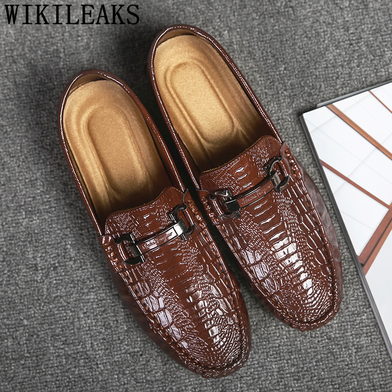 Patent Leather Shoes Men Loafers Men