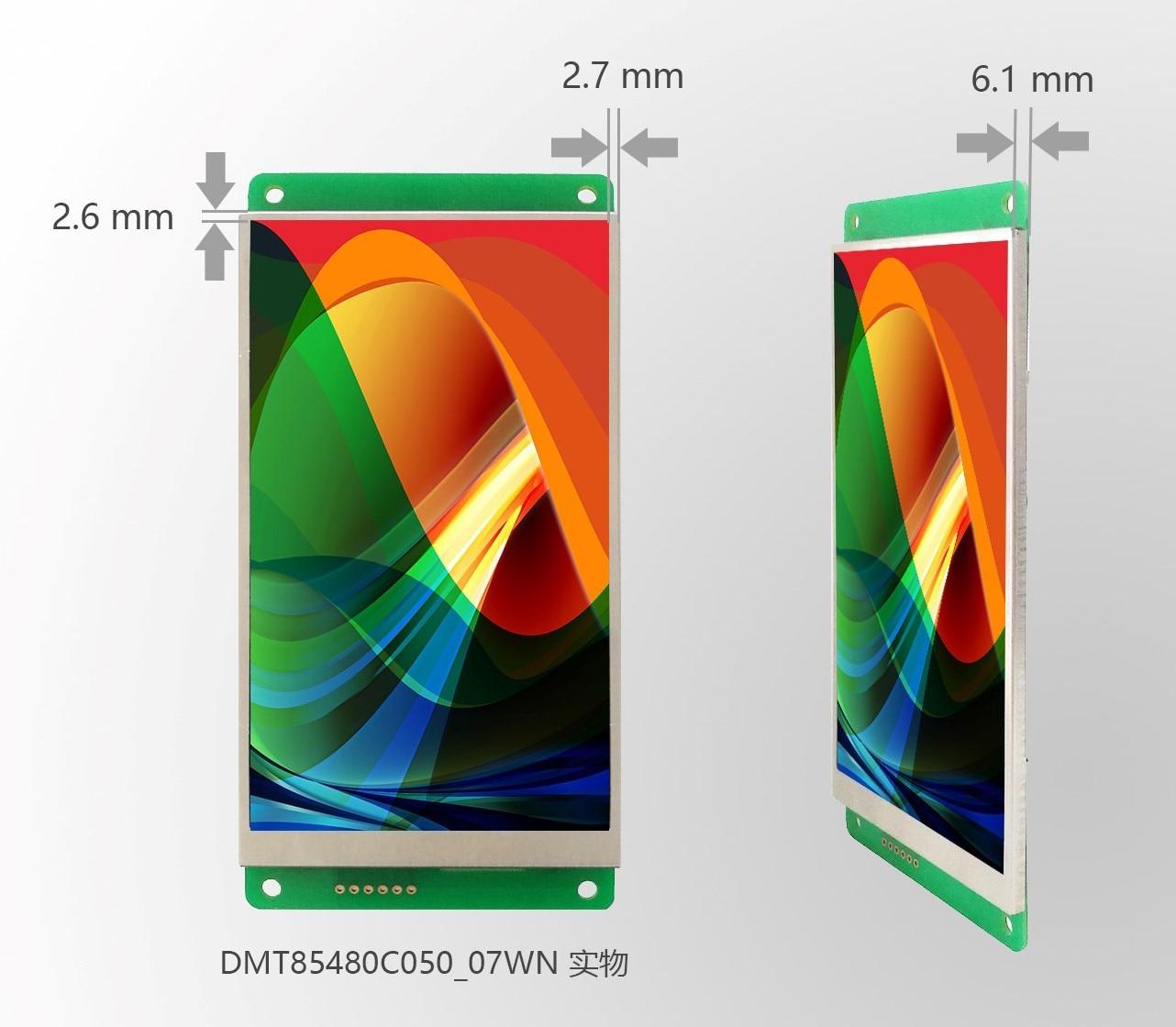 DMT85480C050_07W DMT85480C050_07WN/T DWIN 5 Inch Serial Screen DGUS II Narrow Frame IPS Screen Capacitive Touch Screen