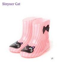 Sinyuer Cat новые модные детские непромокаемые сапоги вырезать детская обувь Обувь для мальчиков и Обувь для девочек непромокаемые сапоги сезона модная водонепроницаемая обувь