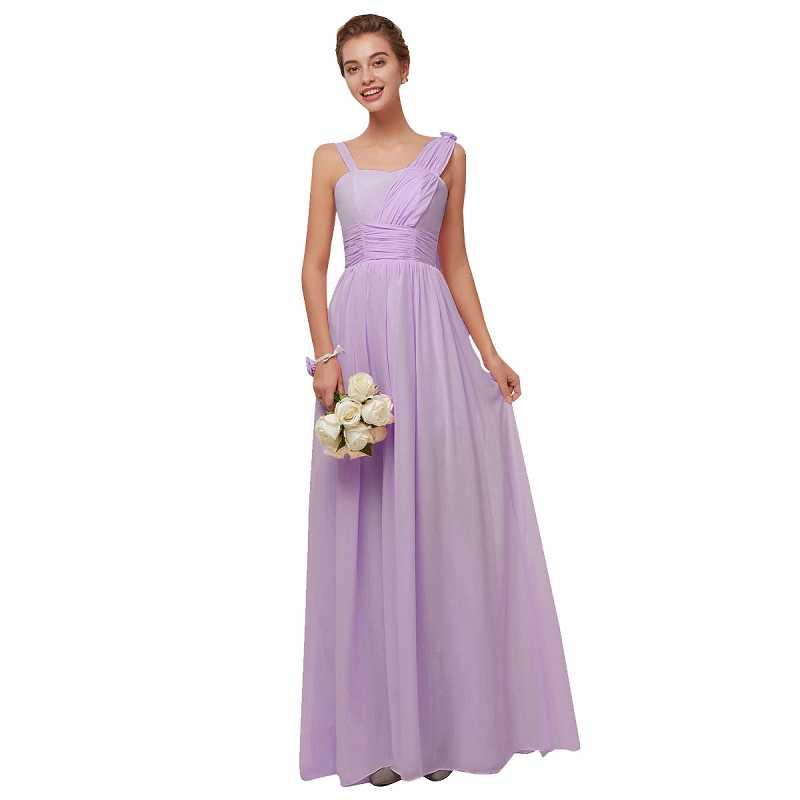 7a1d57b937 Beauty-Emily Long Chiffon Blush Purple Bridesmaid Dresses 2018 A-Line  Vestido De Festa De Casamen Formal Party Prom Dresses