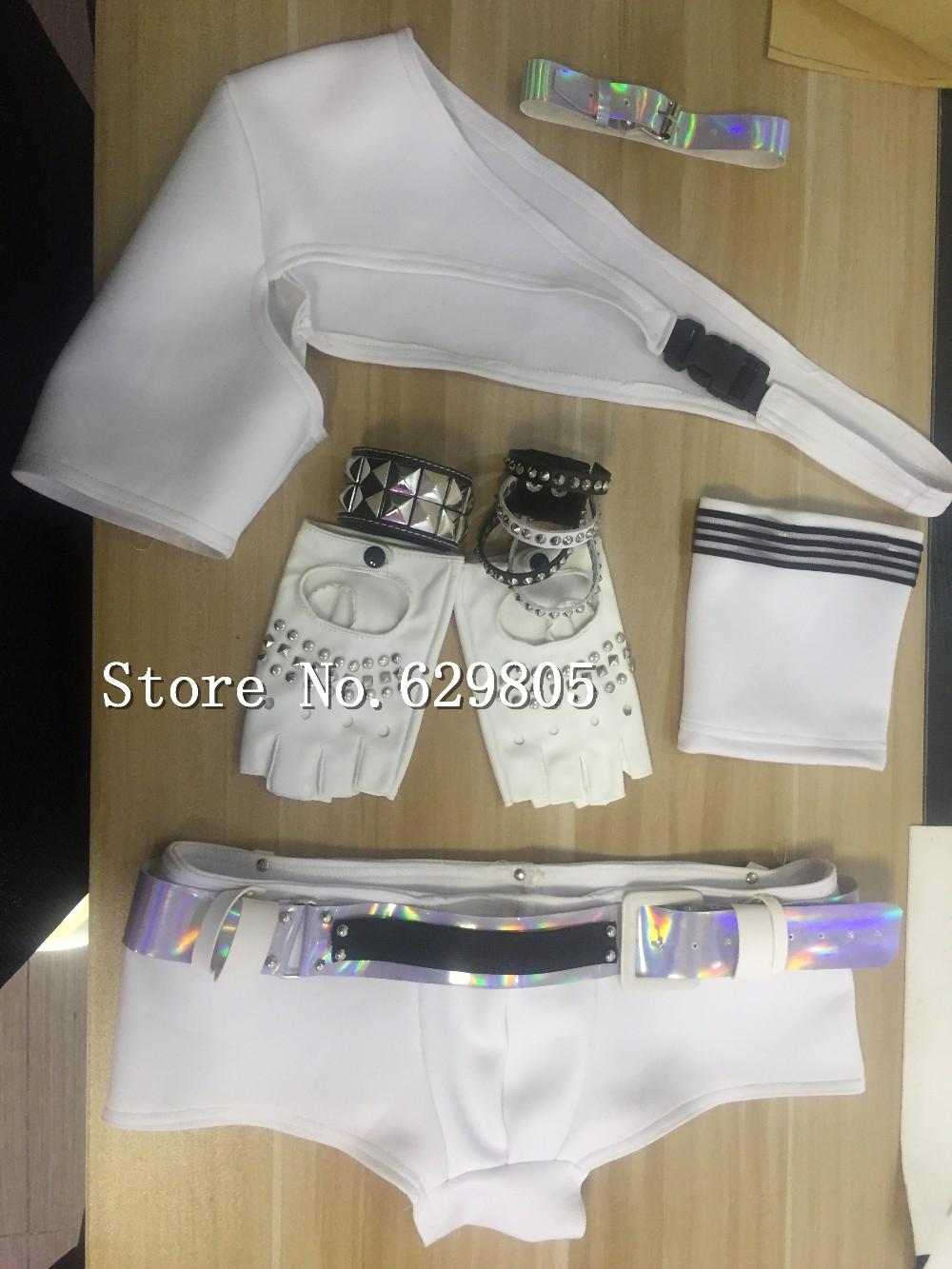 542521c3342fa6 US $58.0 |Männer Sex Ds Kostüm Sexy Männlichen Kleidung Weiße Unterwäsche  Set Nachtclub Zeigen Bar Kleidung Set Party Leistung Tanz Cosplay kleid ...