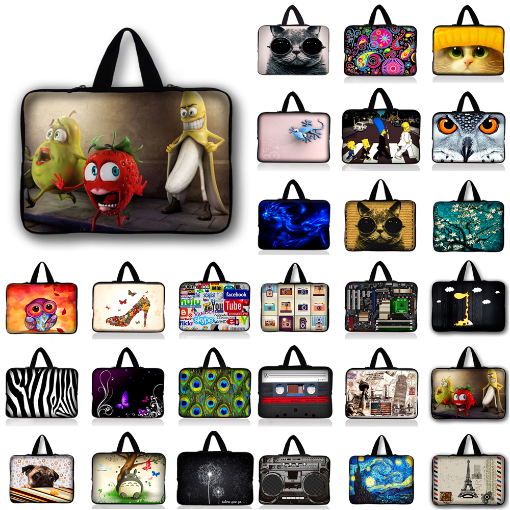 7 10 11.6 13 13.3 15.4 15.6 inch Butterfly Notebook Laptop Sleeve Bag Case Carrying Handle Bag For Macbook Air/Pro/Retina #R