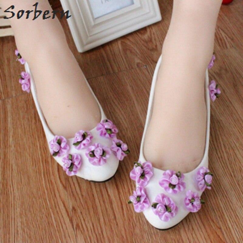 Sorbern Lilac Flower 3Cm Low Heel Wedding Shoes Slip On Kitten Heels Bridal  Shoes 5Cm 8Cm High Heel Womens Shoes Heels-in Women s Pumps from Shoes on  ... a11994d9511c
