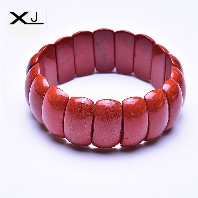 XJ Natural Red Stone Bracelet Jewelry Handmade Beads Mans Bracelets Creative Gifts