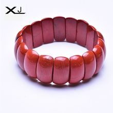 XJ Natural Red Stone Bracelet Jewelry Handmade Beads Mans Bracelets Creative Gifts