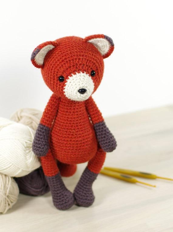 Crochet Red Fox - Amigurumi Fox  Toy Doll Rattle